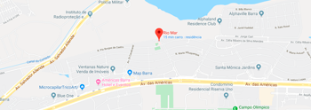 Veja o mapa